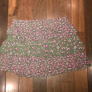 Justice Size 12 Floral Tiered Skirt